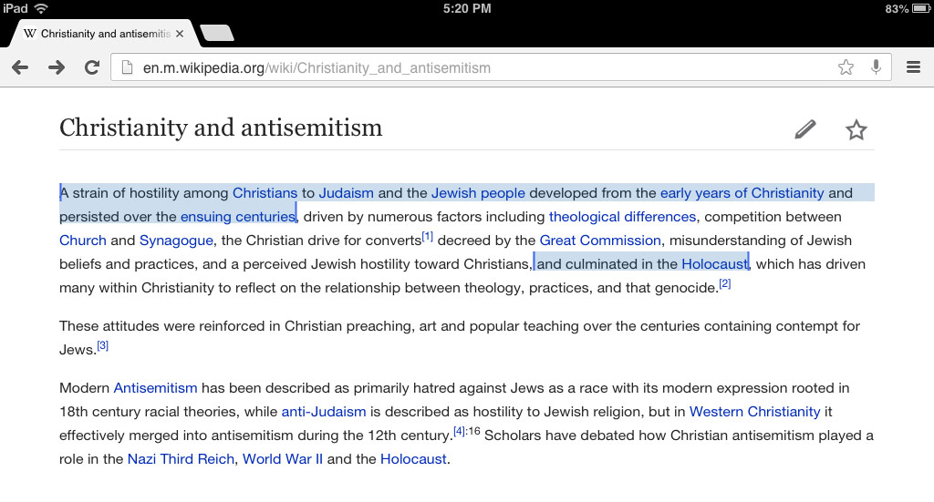 christian antisemitism led to holocaust