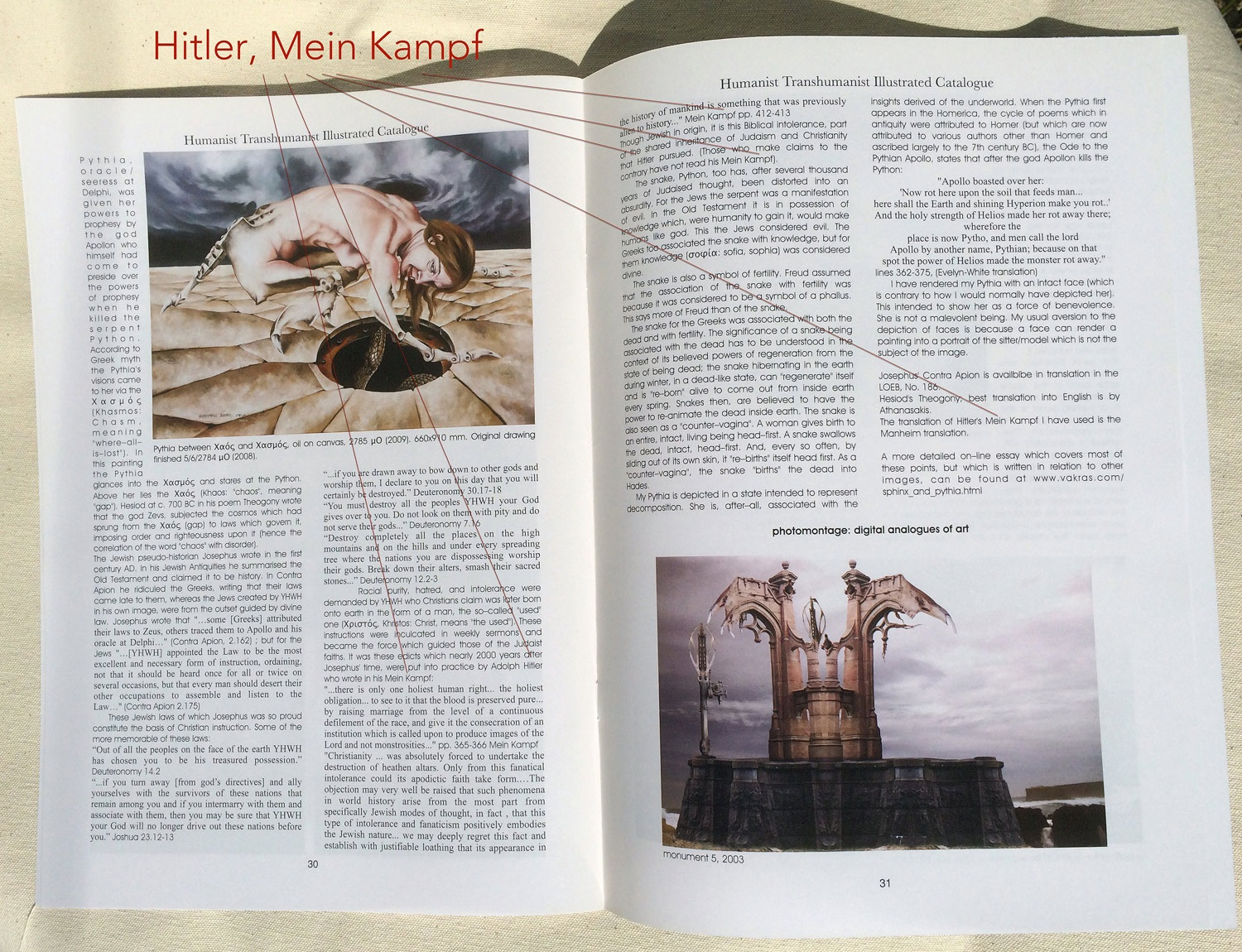 Humanist Transhumanist Hitler based his genocide on the Bible
