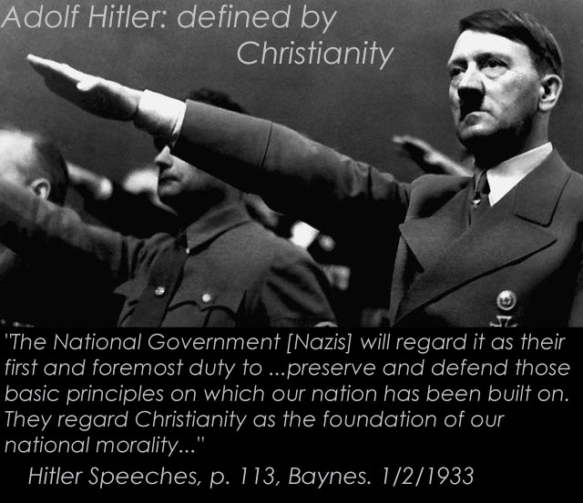 Adolf Hitler defined by Christian morality