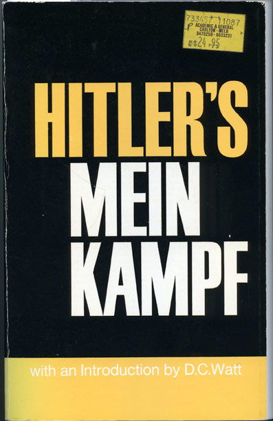 manhem translation of mein kampf, cover